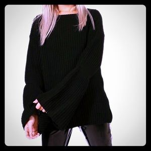 New Oversize Bell Flare Sleeve Chunky Sweater M/L